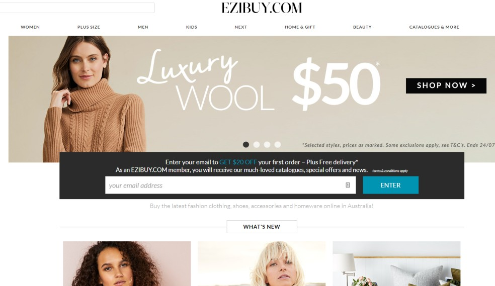 EziBuy - homeware sales new zealand