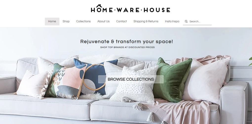 HomeWareHouse - homeware sales